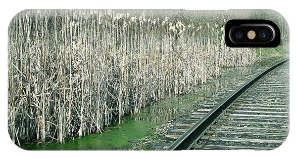 Cattails By The Tracks IPhone Case