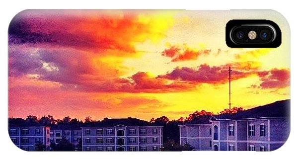 Sunset iPhone Case - #ccu #sunset 🌇 by Katie Williams