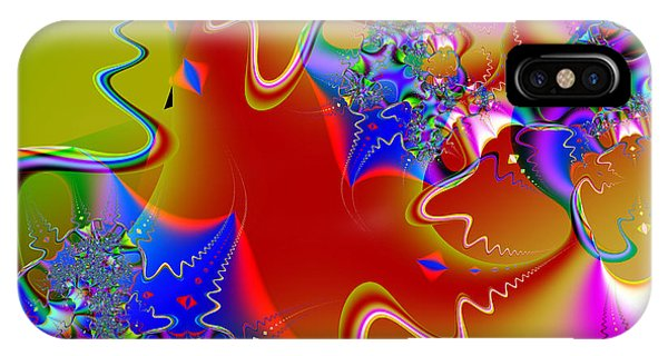 Julia Fractal iPhone X Case - Celebration . Square . S16 by Wingsdomain Art and Photography