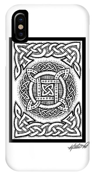 Celtic Four Square Circle IPhone Case