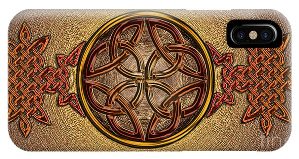 Celtic Knotwork Enamel IPhone Case