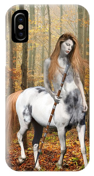 Centaur iPhone Case - Centaur Series Autumn Walk by Nikki Marie Smith