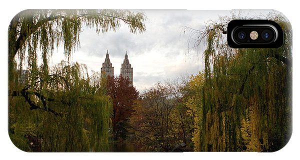 Central Park Autumn IPhone Case