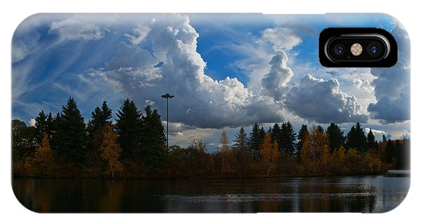 Central Pond Hawrelak Park Edmonton IPhone Case