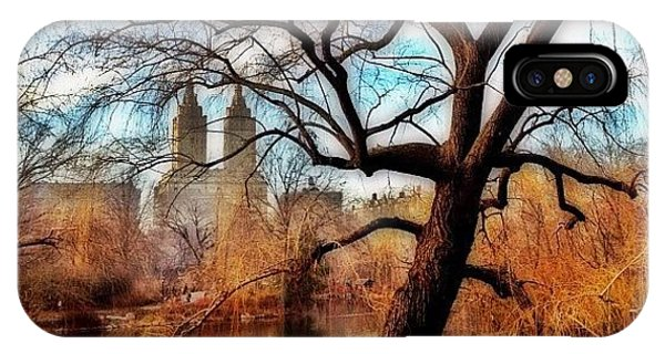 Skylines iPhone Case - #centralpark #park #outdoor #nature #ny by Joel Lopez