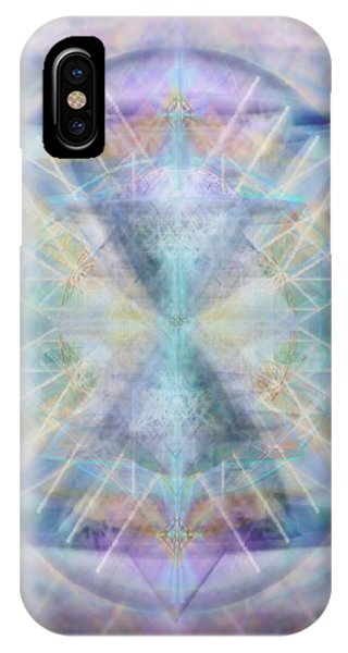 Chalice Of Vorticspheres Of Color Shining Forth Over Tapestry IPhone Case