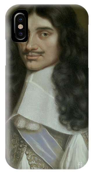 King Charles iPhone Case - Charles II by Wallerant Vaillant