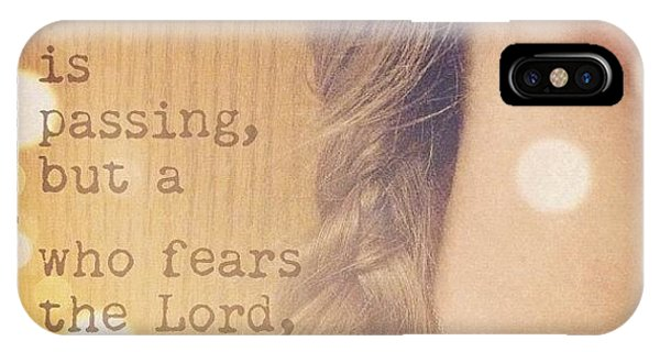 Inspirational iPhone Case - charm Is Deceitful And Beauty Is by Traci Beeson