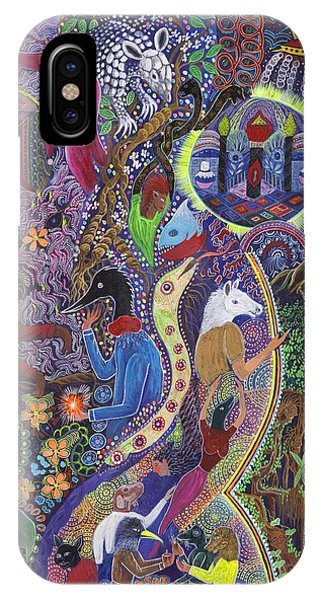 IPhone Case featuring the painting Chasnamancho Umanki by Pablo Amaringo