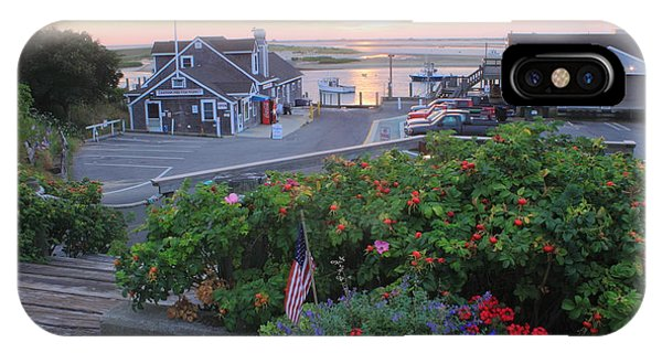 Chatham Fish Pier Summer Flowers Cape Cod IPhone Case