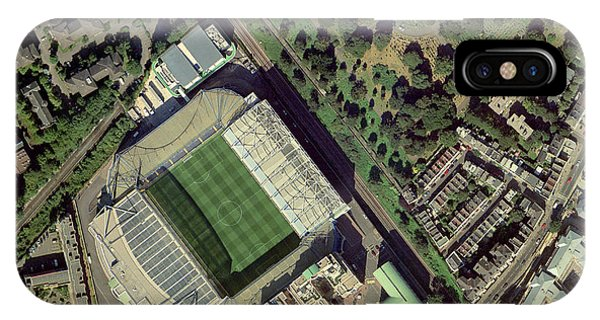Stamford iPhone Case - Chelsea's Stamford Bridge Stadium, Aerial by Getmapping Plc
