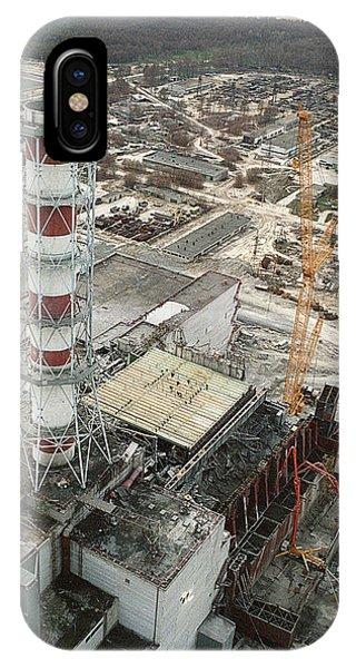 Chernobyl Reactor Clear-up Phone Case by Ria Novosti