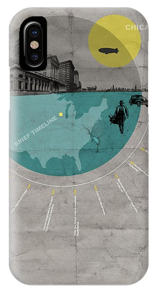 Illinois iPhone Case - Chicago Poster by Naxart Studio