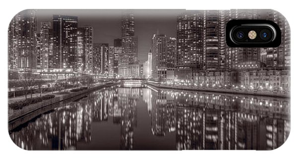 Chicago River iPhone Case - Chicago River East Bw by Steve Gadomski