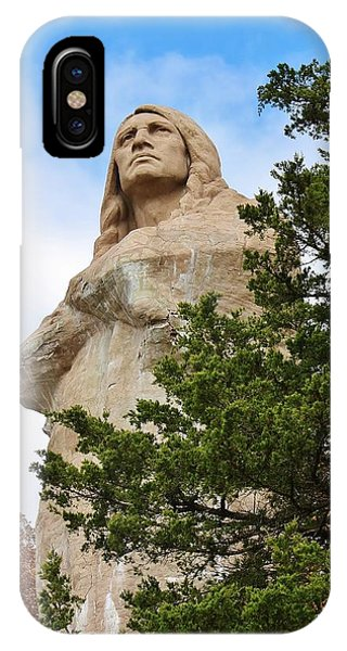 Chief Blackhawk Statue IPhone Case