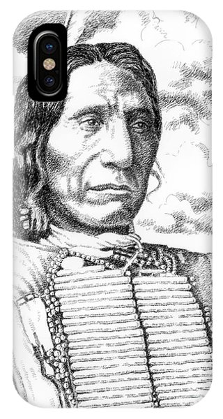 Pen And Ink Drawings For Sale iPhone Case - Chief-red-cloud by Gordon Punt