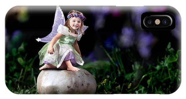 Child Fairy On Mushroom IPhone Case