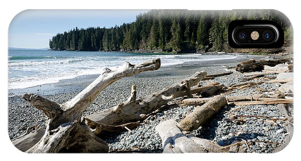 China Driftwood China Beach Juan De Fuca Provincial Park Bc IPhone Case