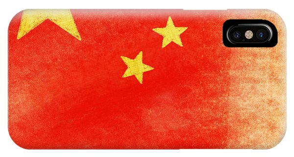 Mottled iPhone Case - China Flag by Setsiri Silapasuwanchai