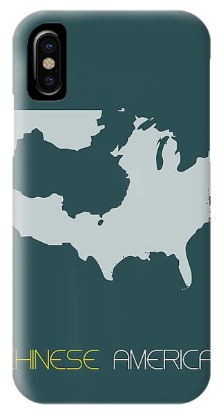 Chinese iPhone Case - Chinese America Poster by Naxart Studio