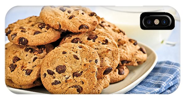 Chocolate Chip Cookies And Milk IPhone Case