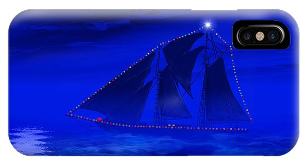 Schooner iPhone Case - Christmas At Sea by Carol and Mike Werner
