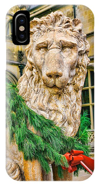 Christmas Lion At Biltmore IPhone Case