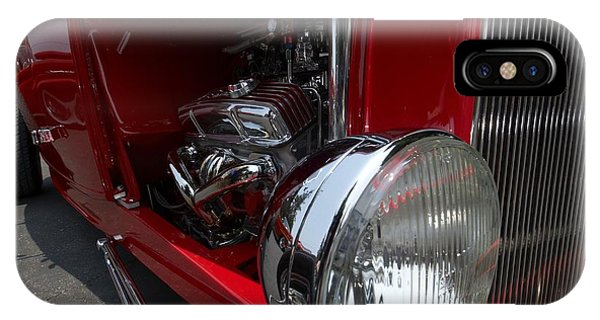 Chrome Engine Vintage Car IPhone Case