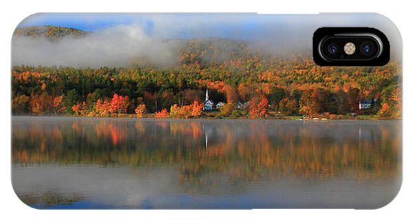 Church Across The Lake-panoramic IPhone Case