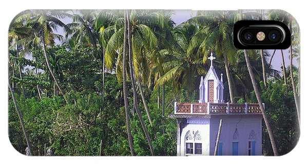 Church Located On A Coastal Lagoon In Kerala In India IPhone Case