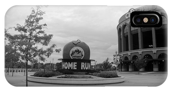 iPhone Case - Citi Field In Black And White by Rob Hans
