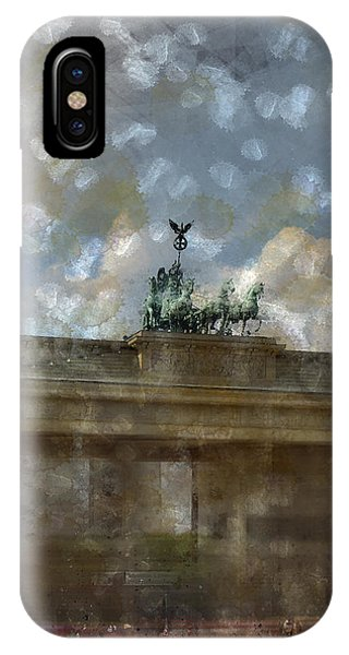 City-art Berlin Brandenburger Tor II IPhone Case