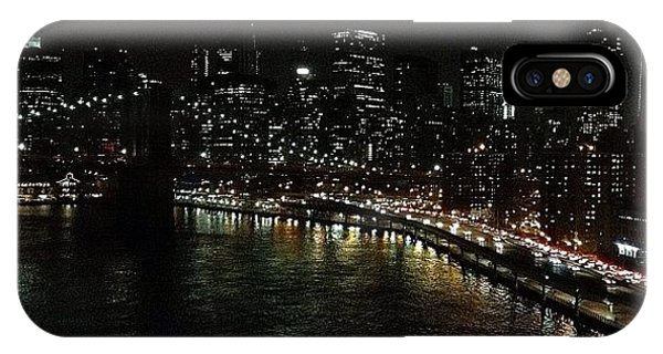 Skylines iPhone Case - City Lights - New York by Joel Lopez