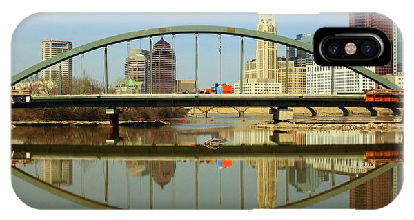 City Reflections Through A Bridge IPhone Case