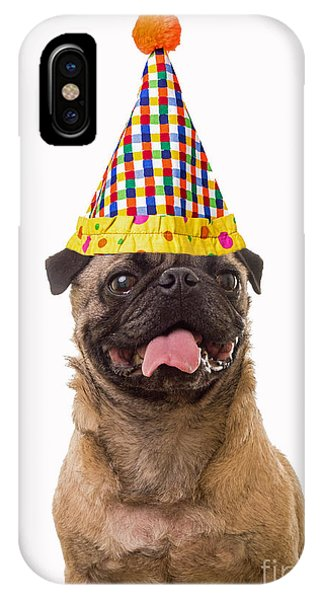 Pug iPhone X Case - Class Clown by Edward Fielding