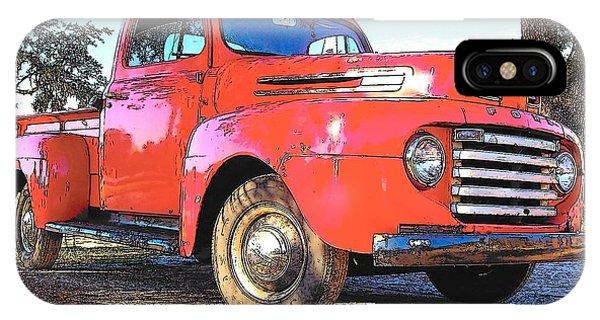 Classic Red Truck IPhone Case