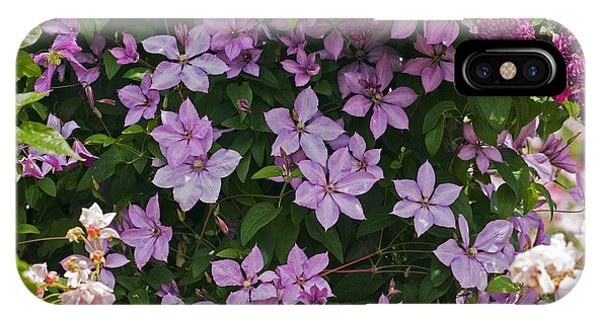 Clematis 'margaret Hunt' Phone Case by Dr Keith Wheeler