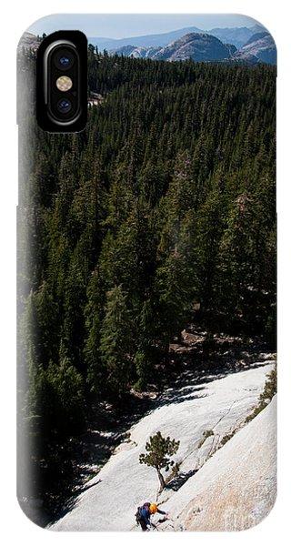 Climber In Yosemite IPhone Case