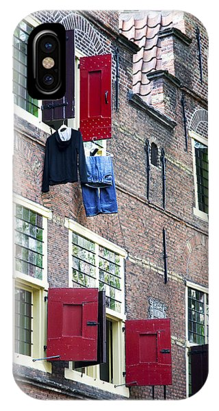 Clothes Hanging From A Window In Kattengat IPhone Case