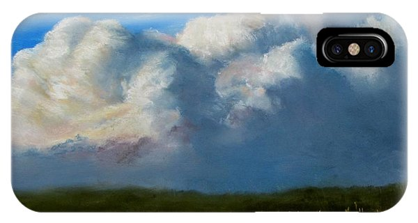 Clouds Over The Meadow IPhone Case