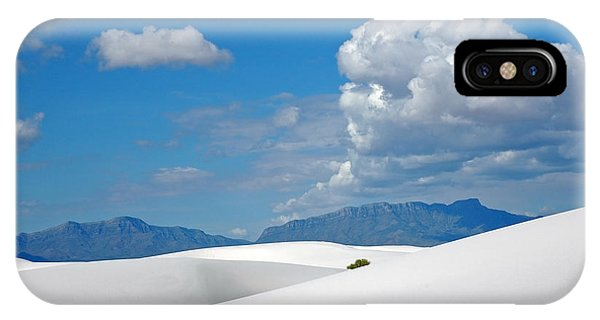 Clouds Over The White Sands IPhone Case