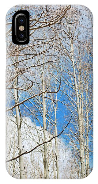 Cloudy Aspen Sky IPhone Case