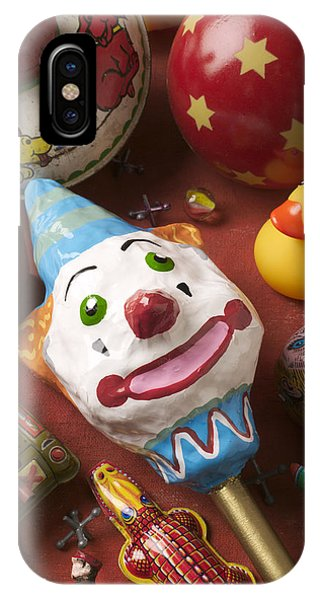 Eye Ball iPhone Case - Clown Rattle And Old Toys by Garry Gay