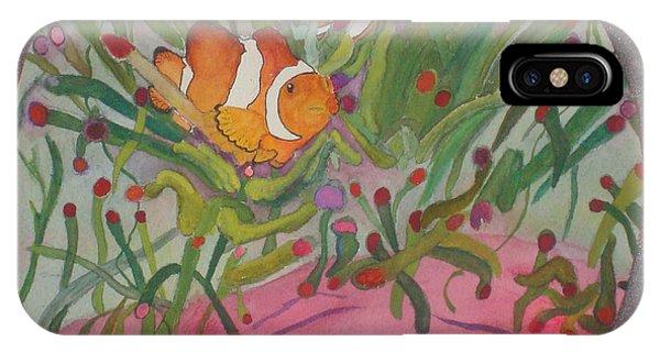 Clownfish Seen Through A Lense IPhone Case