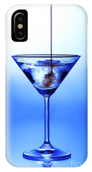 Blue iPhone Case - Cocktail Being Poured by Jane Rix