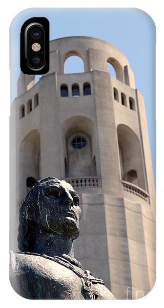 Coit Tower Statue Columbus IPhone Case