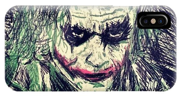Superhero iPhone Case - College Work 08' #joker #art by Gary West