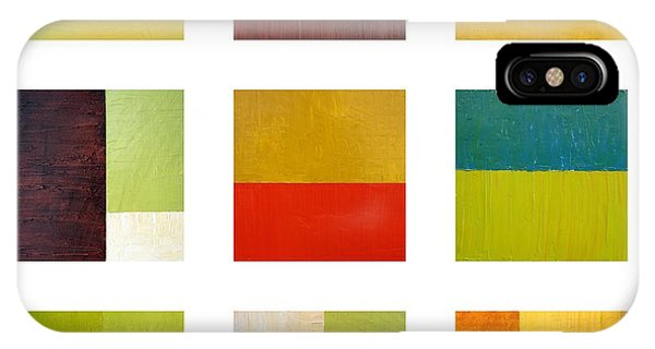 Color Study Abstract Collage IPhone Case