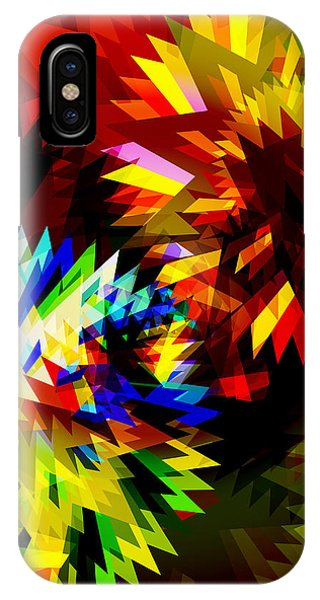 Meshed iPhone Case - Colorful Blade by Atiketta Sangasaeng