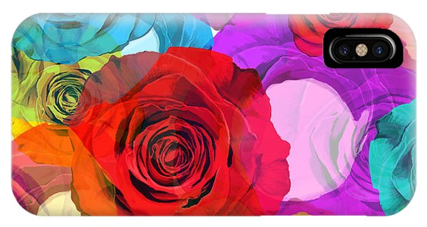 Rose iPhone Case - Colorful Floral Design  by Setsiri Silapasuwanchai
